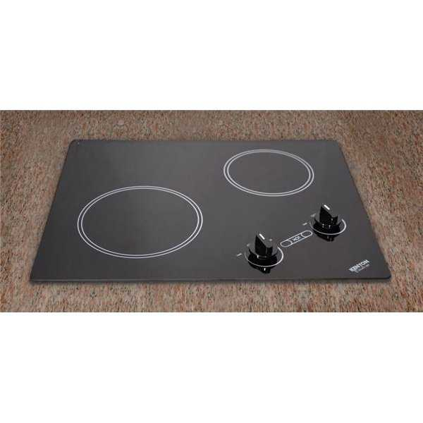 Arctic Series 2-burner Cooktop- black with analog control- 6 .50