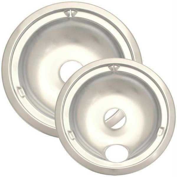 Two-Pack Porcelain Drip Pans, Style C