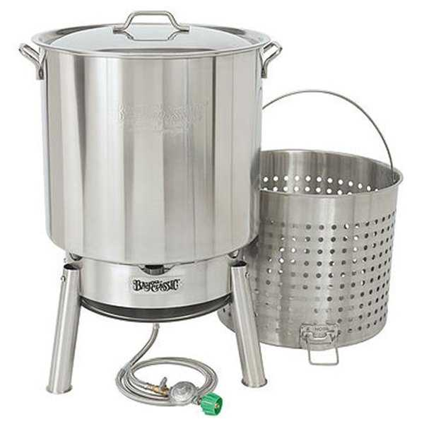Bayou Classic KDS-182 82 qt. Stainless Steel Crawfish Cooker Kit