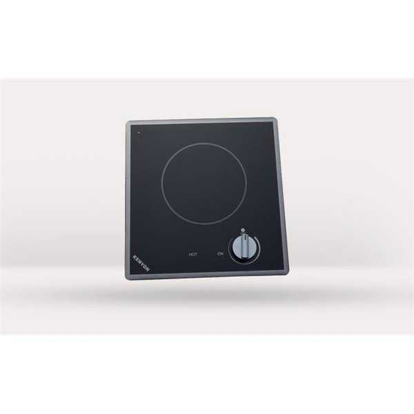 Cortez Single Burner Cooktop, black with analog control - 6 .5