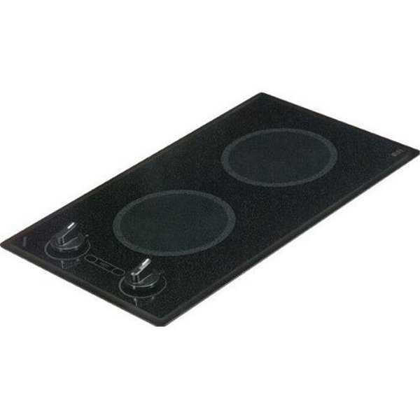 Mediterranean Series 2-burner Trimline Cooktop- black with analog