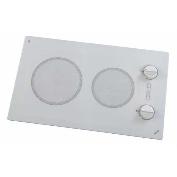 Alpine Series Large 2-burner Cooktop- white with analog control- 6