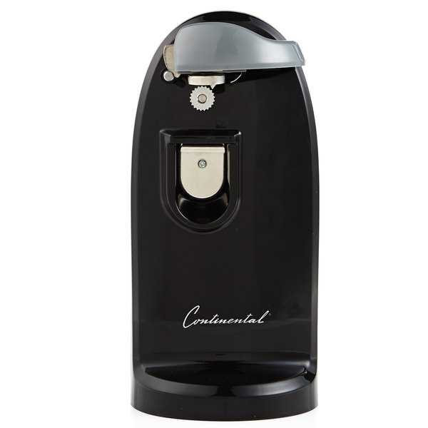 Continental Electric Extra Tall Can Opener, Sharpener Black