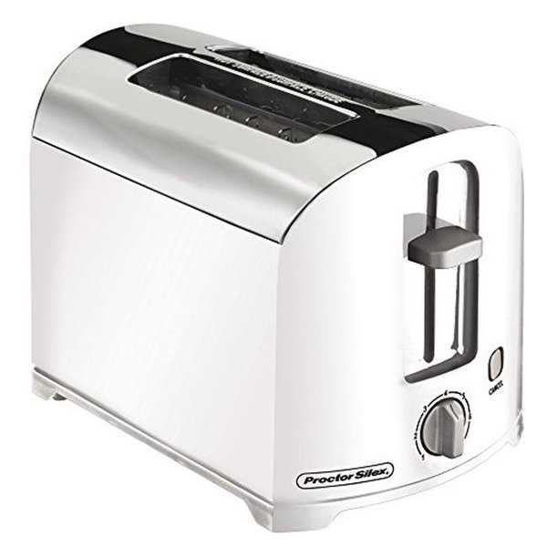 22632 WHT Silex 2 Slice Toaster with Auto Shut Off - White pack of 2