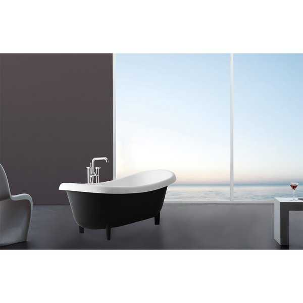 Valencia Duo 71' Freestanding Solid Surface Clawfoot Bathtub