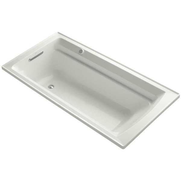 Kohler K-1124-G Archer Collection 72' Drop In Airpool Bath Tub with Reversible Drain
