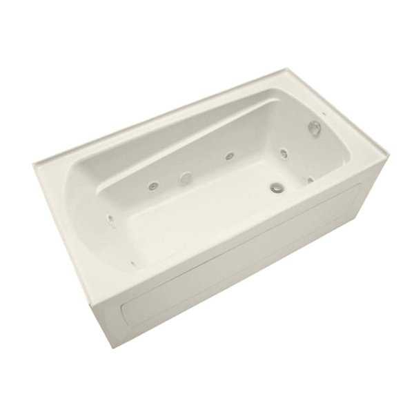 Mirabelle MIRBDW6032L Bradenton 60' X 32' Three-Wall Alcove Whirlpool Tub with Left Hand Drain
