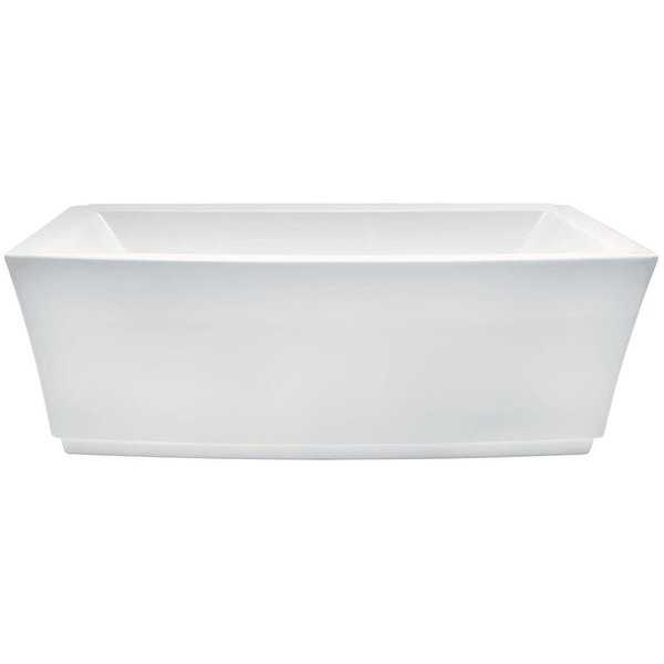 American Standard 2691.004 Townsend 68' Soaking Bathtub for Free Standing Installations with Center Drain - White - N/A