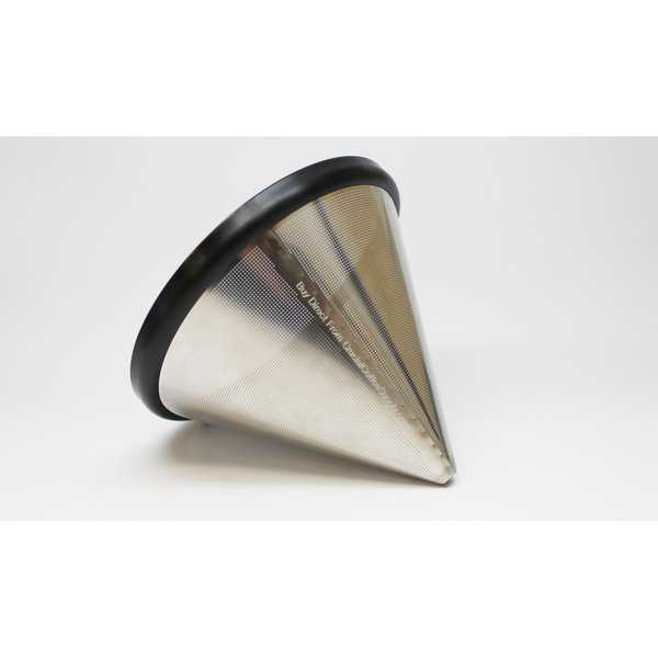 Replacement Stainless Steel Cone Coffee Filter, Fits Bodum 8 Cup Pour Over Drip Coffee Brewers, Washable & Reusable