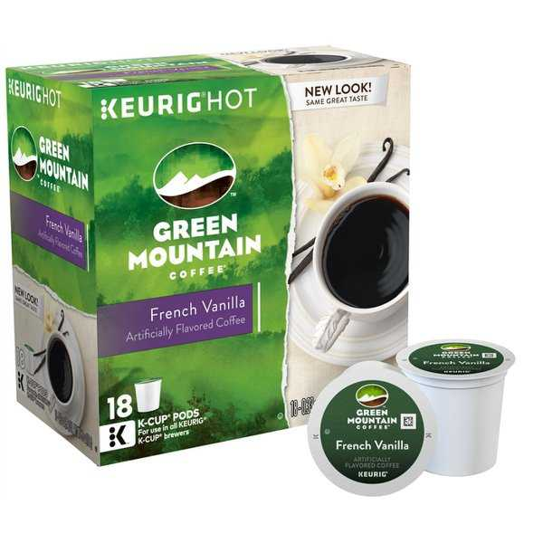 Green Mountain 5000081875 Keurig French Vanilla Coffee K-Cups, 18-Count